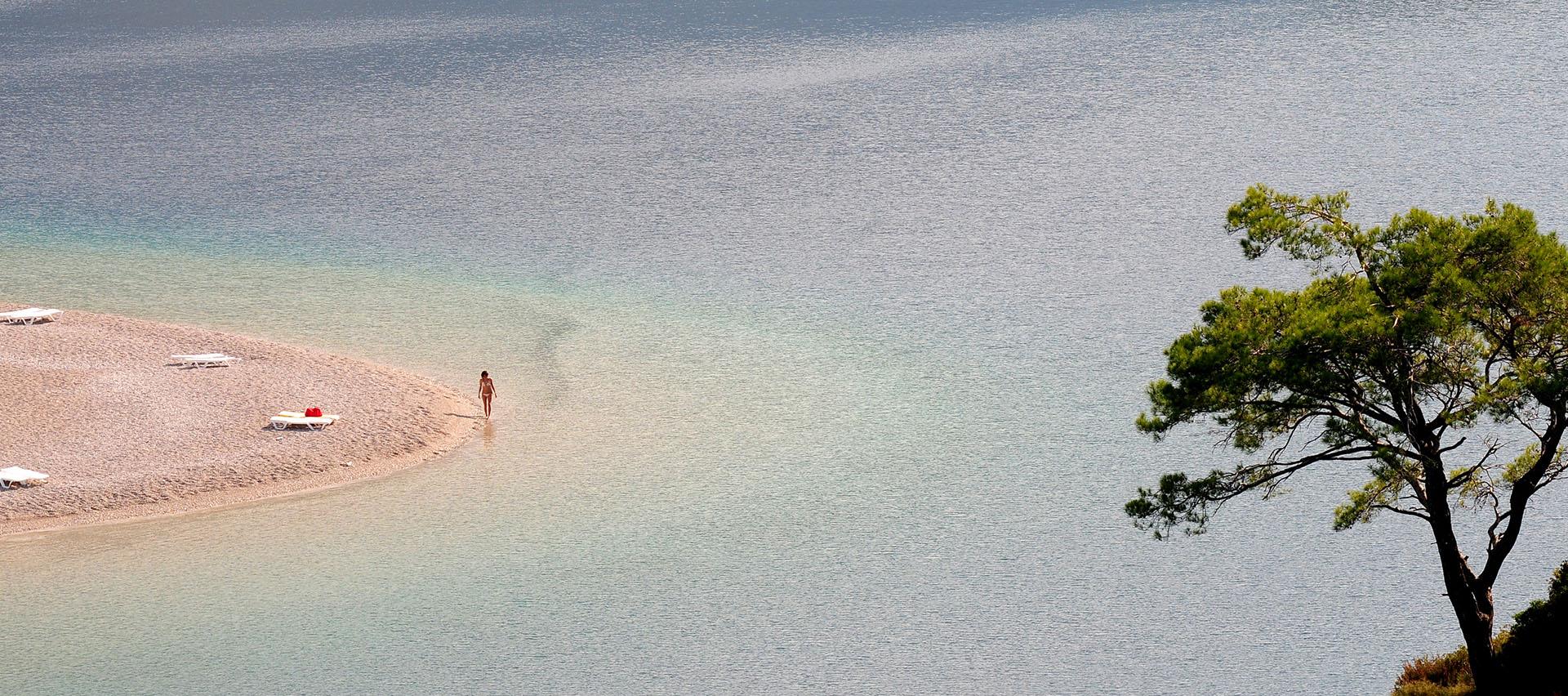 Oludeniz beach blue lagoon Fethiye Turkey
