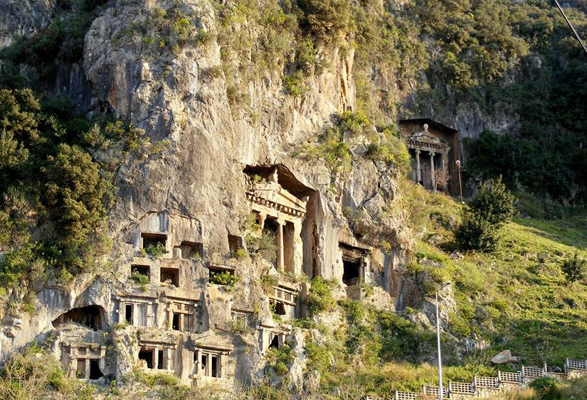 Fethiye Lycian Rock Tombs Turkey